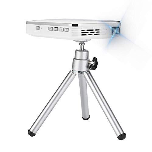 Mini beamer, DLP-projector, schermspiegeling, 2000 lumen, standaard 480P, ondersteunt 1080p max. 100 display, korte afstand videobeamer met statief, compatibel met HDMI USB, iOS Android, wit