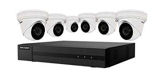 HIKVISION EKI-K82T46 4K Value Express Security NVR Kit Consisting of (1) ERI-K108-P8 8 Channels POE NVR + (6) ECI-T24F2 4MP IR Outdoor Dome Cameras (Renewed)