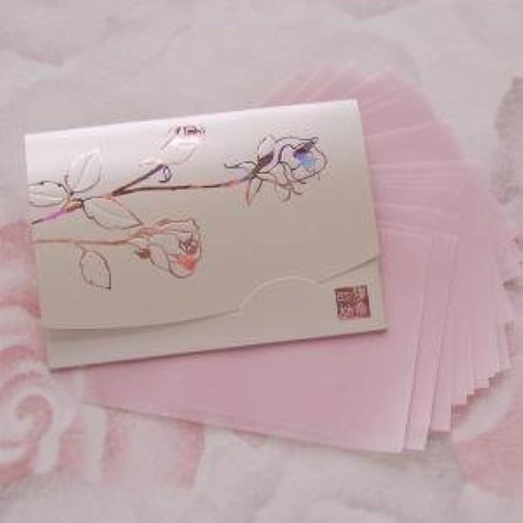 家主必須乱れ鎌倉四葩のあぶらとり紙 きらめき香りローズ 短冊サイズ 20枚入