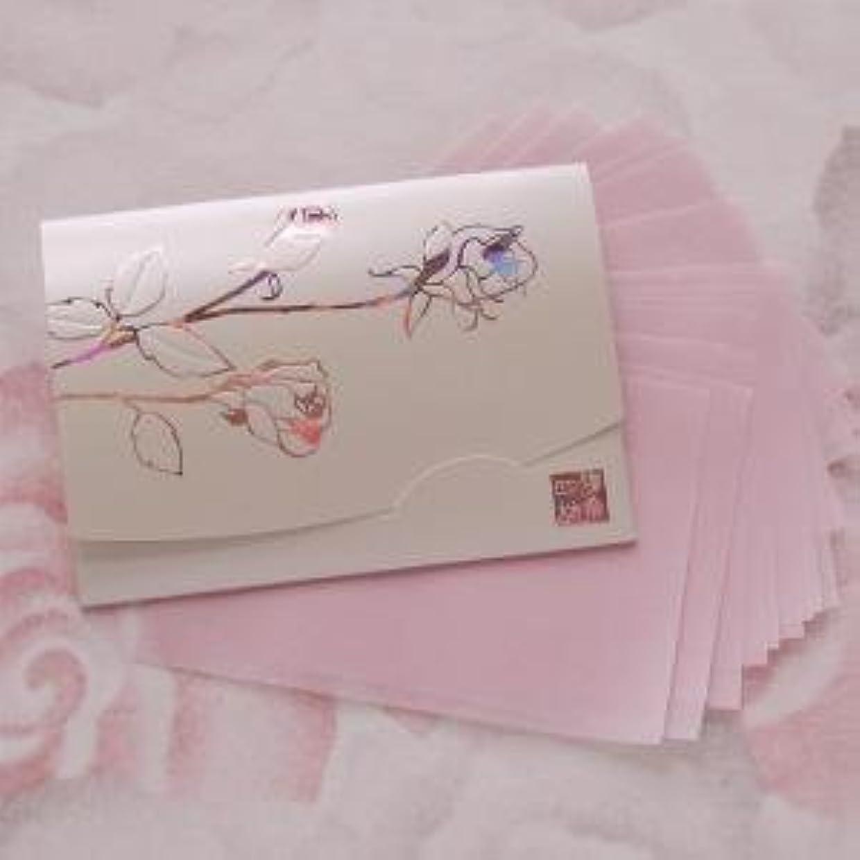 カメ腸スマイル鎌倉四葩のあぶらとり紙 きらめき香りローズ 短冊サイズ 20枚入