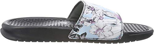 Nike Wmns Benassi JDI Print, Zapatos de Playa y Piscina para Mujer, Multicolor (Anthracite/Topaz Mist/Pink Rise 026), 35.5 EU