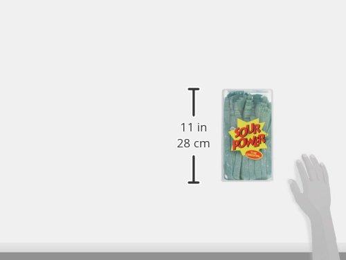 Dorval Sour Power Green Apple Candy Belts 42.3 Oz 150 Piece Tub