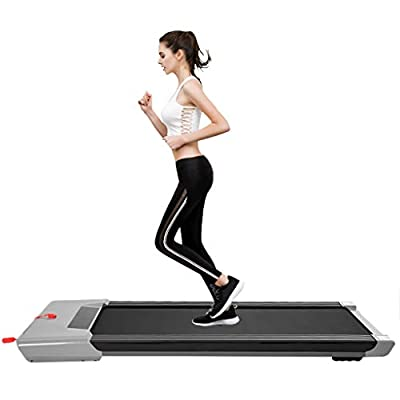SUIKI Under-Desk Walking Treadmill for Home, El...