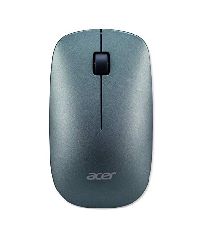 Acer Slim Mouse (Thin & Light, Especially Small Nano Receiver, Up to 10 m Range, Smart Power Management, Including Batteries, WWCB Certified) Mist Green