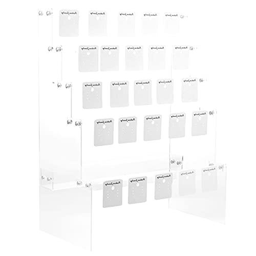 Yardwe 5 Capas de Acrílico Arete Organizador de Joyas Soporte de Exhibición de Joyas Transparente Decoración de Almacenamiento en El Hogar Transparente para Pendientes Pendientes