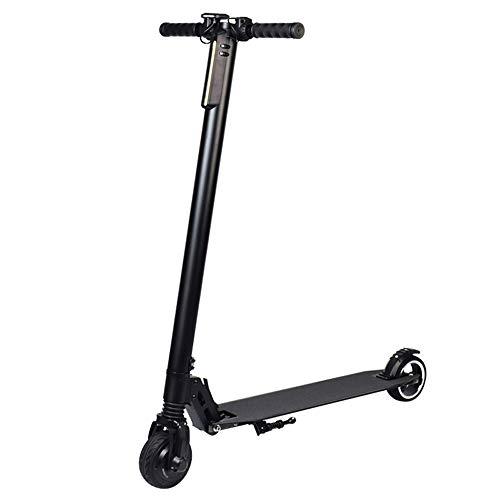 XWX Scooter Eléctrico Plegable, 36V, 25km / H Top Speed Fácil De Transportar Regalos para Niños Adultos con 120 Kg (Color : Carbon Fiber)