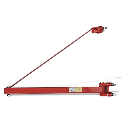 vidaXL Braccio di Sollevamento 600kg in Acciaio a Rotazione Sollevatore Argano