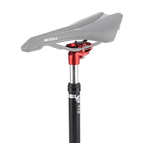 27.2 mm / 31.6 mm Federsattelstütze, 350mm Einstellbar Aluminium Fahrrad Sattelstütze, für E-Bike BMX MTB Trekking Citybike (27,2 mm)