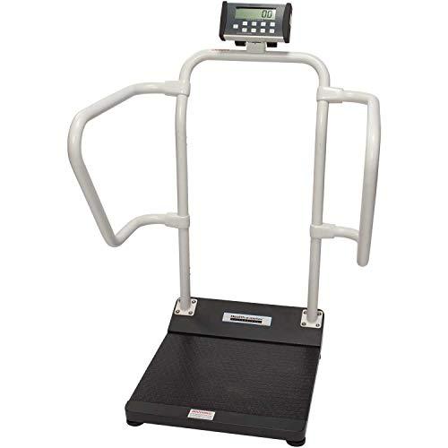 Salud o metro 1100KL báscula digital de paciente, Capacidad 1000libras, plataforma Dimensión 15–3/10.2x 55.9cm