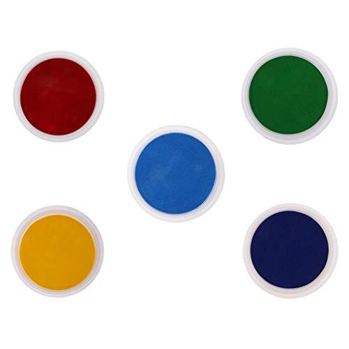 Baoblaze 5 Couleurs Grand Tampon Encreur Mousse Pigment pour Enfants Peinture Au Doigt Bricolage Artisanat Scrapbooking DIY Fabrication de Cartes