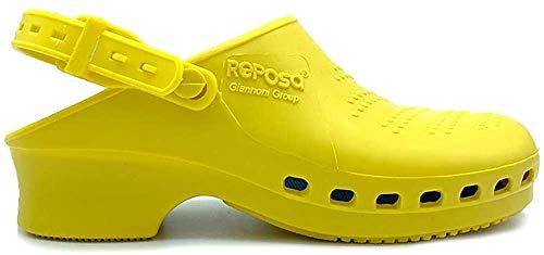Reposa - Zuecos profesionales, modelo Complete, con cordón Amarillo Size: 39-40