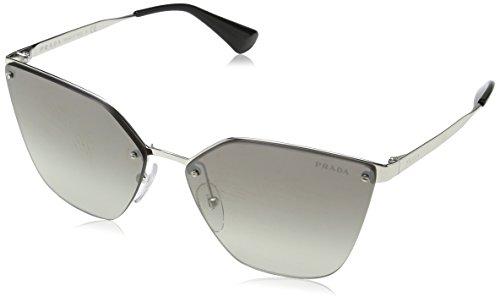 Prada PR68TS 1BC5O0 Silver PR68TS Cats Eyes Sunglasses Lens Category 2 Lens Mir