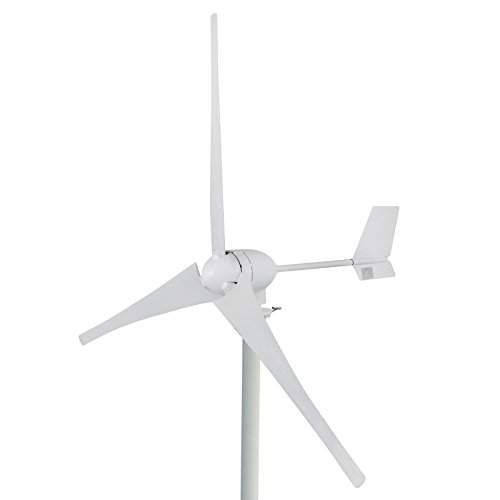 Happybuy Wind Turbine Generator 700W DC 24V Businesses 3 Blade with Controller for Marine RV Homes Industrial Energy