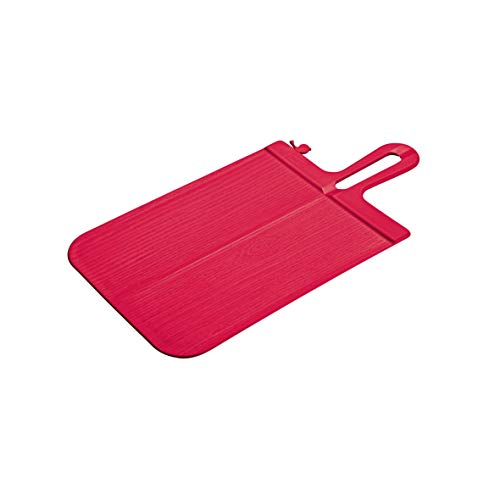 koziol Schneidebrett Snap S, Kunststoff, himbeer rot, 33.1 x 16.6 x 0.5 cm