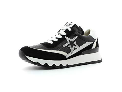 Paul Green Damen Sneaker 4954, Frauen Low-Top Sneaker, lose Einlage, sportschuh Plateau-Sohle weibliche Lady Ladies,MASTERCALF Black,37.5 EU / 4.5 UK