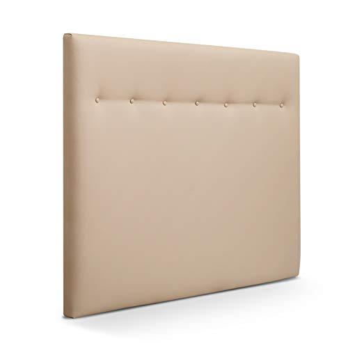 SUENOSZZZ-ESPECIALISTAS DEL DESCANSO Cabecero de Cama Dakota tapizado en Polipiel para Camas de 90 y 105 (115 x 120 cm) Polipiel Beige