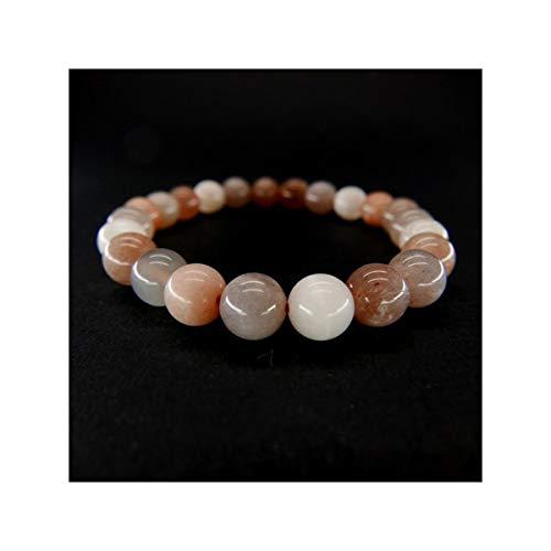 Armband voor volwassenen, gladde bol, 6 mm, mineralen en kristallen, energie, meditatie, liefdes-sieraad