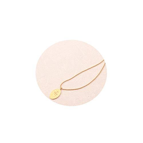 Epinki Acero Inoxidable Oro Virgen María Minimalista Collar para Mujer Chicas