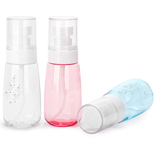 ZZYYLL Plastic Spray Bottle, 3-Pack 60ml/2oz Fine Mist Spray Bottle, Refillable Empty Mister Spray Bottles for Travel and Home for Alcohol, Hand Sanitizer, Makeup Cosmetic Toiletries, Essential Oils