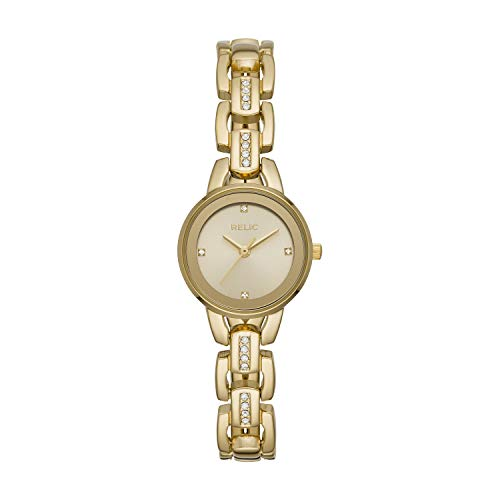 Relic by Fossil Women's Caroline Quartz Metal Dress Watch, Color: Gold (Model: ZR34543)
