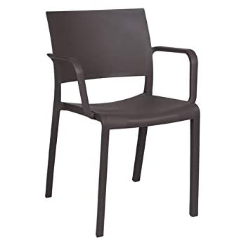 resol Set de 2 sillas con Brazos de diseño New Fiona para Interior, Exterior, jardín - Color Chocolate: Amazon.es: Hogar