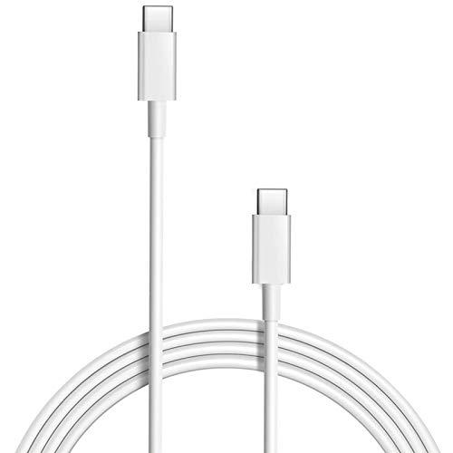 Cable de carga rápida USB C a USB C 87 W/61 W, repuesto USB-C/Tipo-C, compatible con MacBook de 15 pulgadas y 13 pulgadas (3 A de carga rápida) Cable (USB-C)