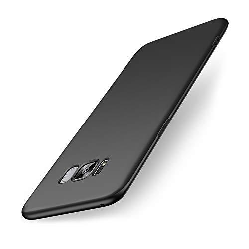 wsiiroon Hülle Kompatibel mit Samsung Galaxy S8, Ultra Dünn TPU Schwarz Matte Handyhülle, Anti-Fingerabdruck Schutzhülle, Kratzfest und Stoßfest Silikonhülle Case Kompatibel mit Samsung Galaxy S8