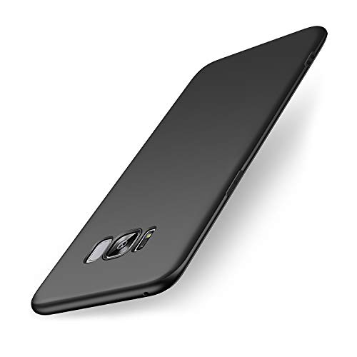 wsiiroon Hülle Kompatibel mit Samsung Galaxy S8, Ultra Dünn TPU Schwarz Matte Handyhülle, Anti-Fingerabdruck Schutzhülle, Kratzfest & Stoßfest Silikonhülle Hülle Kompatibel mit Samsung Galaxy S8