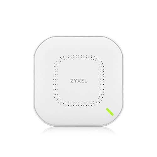 Zyxel Echter WiFi 6 AX1800 WLAN-AP (802.11ax Dual-Band), 1,77 Gbit/s mit Quad-Core-CPU & Dual 2x2 MU-MIMO-Antenne, verwaltbar über Nebula App/Cloud oder Standalone [NWA110AX]
