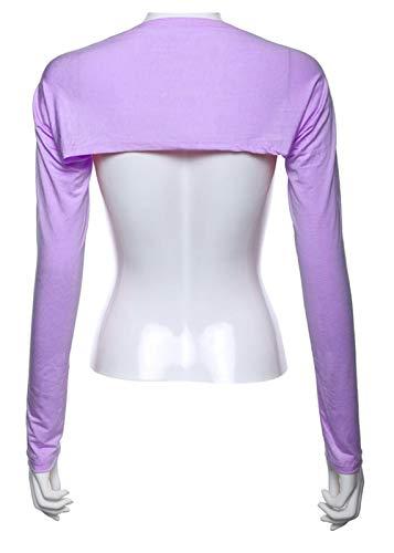 HAIXUE Muslim Women Shoulder Oversleeve Elastic Arm Cover Sleeve Under Shirt Fashion Clothing (Color : Lavendar)