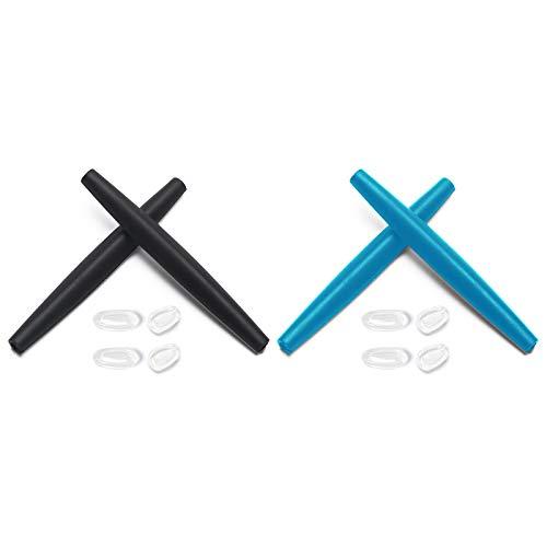 Montoz Juego de 2 almohadillas de repuesto para gafas de sol Oakley Crosshair 2012, color negro y azul cielo