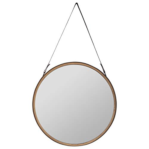 Amazon Brand – Rivet Casual Round Mirror, 20.28