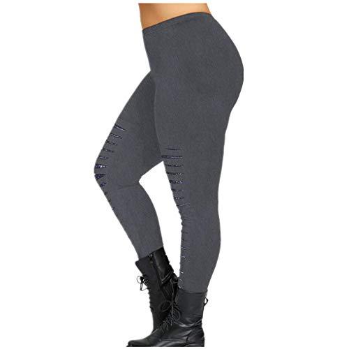 Dorical Damen Hohe Taille Mode Workout Leggings Fitness Sport Gym Jogging Yoga Sporthose