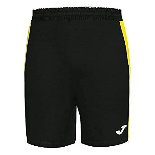 Joma Academy III Pantalon equipaciones, Niños, Negro-Amarillo, XS