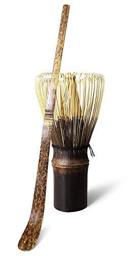 SHANGHh Matcha Whisk Set / 100-Zinken Matcha Chasen + Bambus-Teeschaufel für traditionelle japanische Teezeremonie