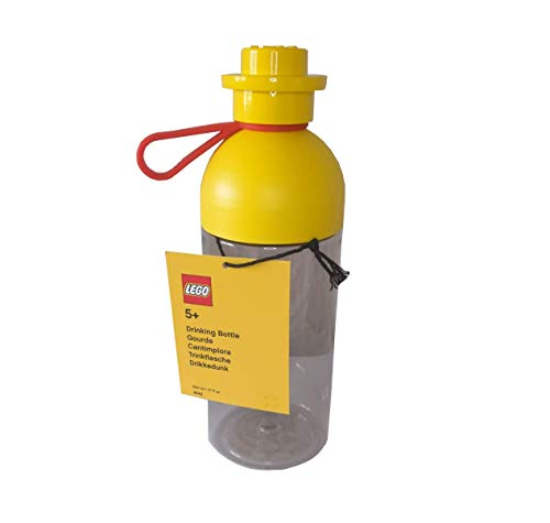 LEGO Botella con tapón de rosca como placa, redonda, color amarillo, 500 ml