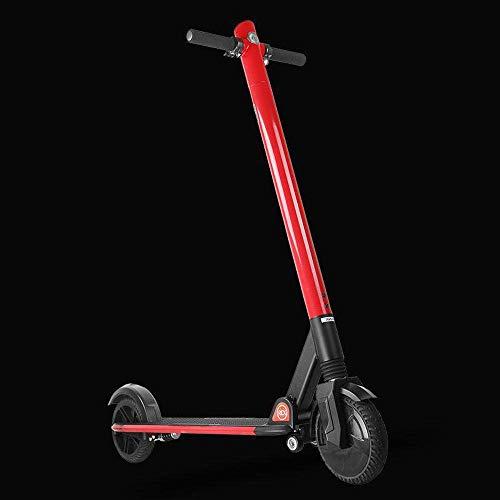 L.HPT Elektroroller Leichtgewicht 13KG Scooter Lithium Batterie Wiederaufladbare tragbare Klapproller für Erwachsene 250W Rot