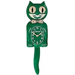 Kit Cat Klock Limited Edition Green Swarovski Crystals Jeweled Clock