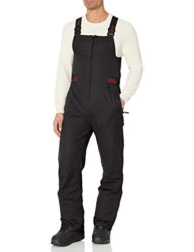 Arctix Men's Avalanche Athletic Fit Insulated Bib Overalls, Black, Small