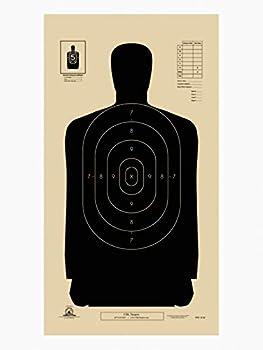 Official NRA B-29 Police Silhouette Shooting Targets 14 x 22  Paper Shooting Target Silhouette Paper Targets for Firearms Pistols Rifles BB Guns Airsoft Guns Pellet Guns
