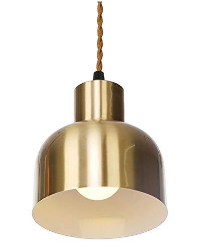 HMKJ Caballamiento Oro LED Lámpara Colgante Cafetería Cocina Comedor Habitación Dormitorio E27 E26 Nórdico Moderna Luz Colgante araña de la oficina (Body Color : D)