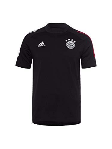adidas FC Bayern Munchen Saison 2020/21 FCB Tee T-Shirt Unisex Erwachsene S Schwarz/Rot FCB