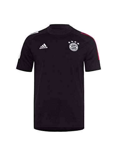 adidas Herren FCB Tee T-Shirt S Schwarz/Rot FCB