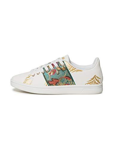 Desigual Shoes (Cosmic_Exotic Tropical), Scarpe da Ginnastica Basse Donna, Bianco (Blanco 1000), 40 EU