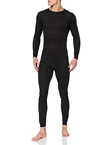 Ultrasport Herren Thermo Funktionsunterwäsche Set, schwarz, XL