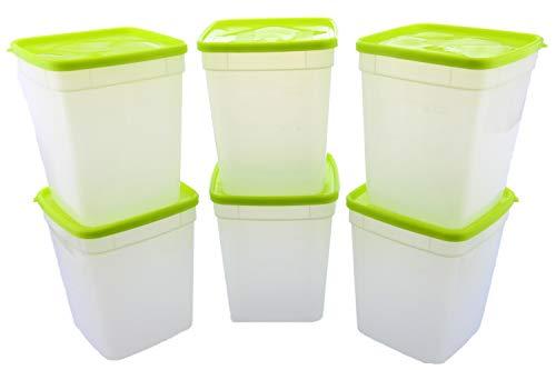Arrow Reusable Plastic Storage Container Set, 6 Pack, 1 Quart / 4 Cup Each