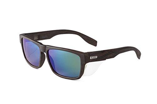 Pegaso 139.29-Gafas Proteccion Gama Solar Lifestyle Modelo Brave.29 Woody Dark Lente PC Polarizada, Madera/Verde Revo, 51 Unisex Adulto