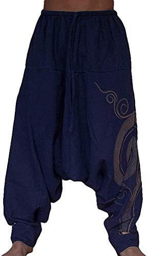 Hombre Pantalones Harem Cómoda Cintura Elástica Pantalones Moda Color Sólido Casuales...