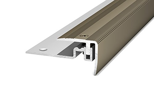 Prinz PS 400 Treppenkantenprofil -Für Belagstärken von 7 -15 mm Edelstahl matt 250cm 30 x 25 mm
