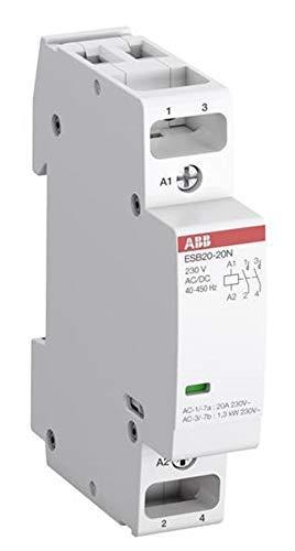 ABB Stotz Installationsschütz 20A 2Ö 230V AC/DC ESB20-02N-06